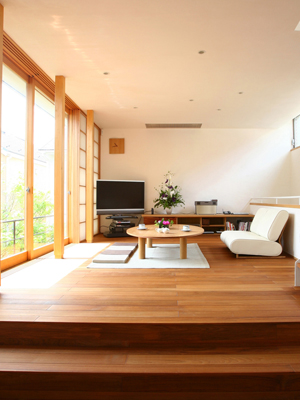 L'intérieur d'une maison