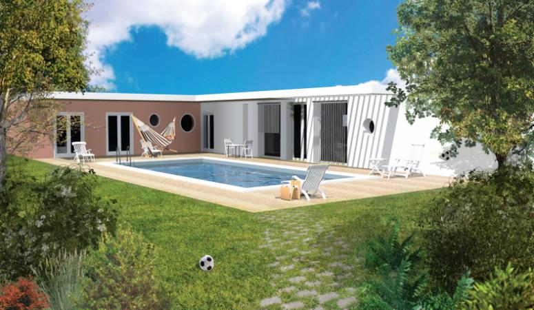Perspective extérieure maison Polochon Archionline